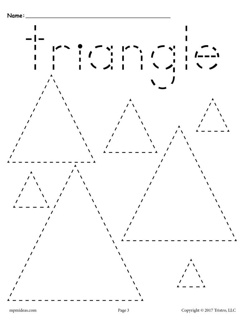 Triangles Tracing Worksheet