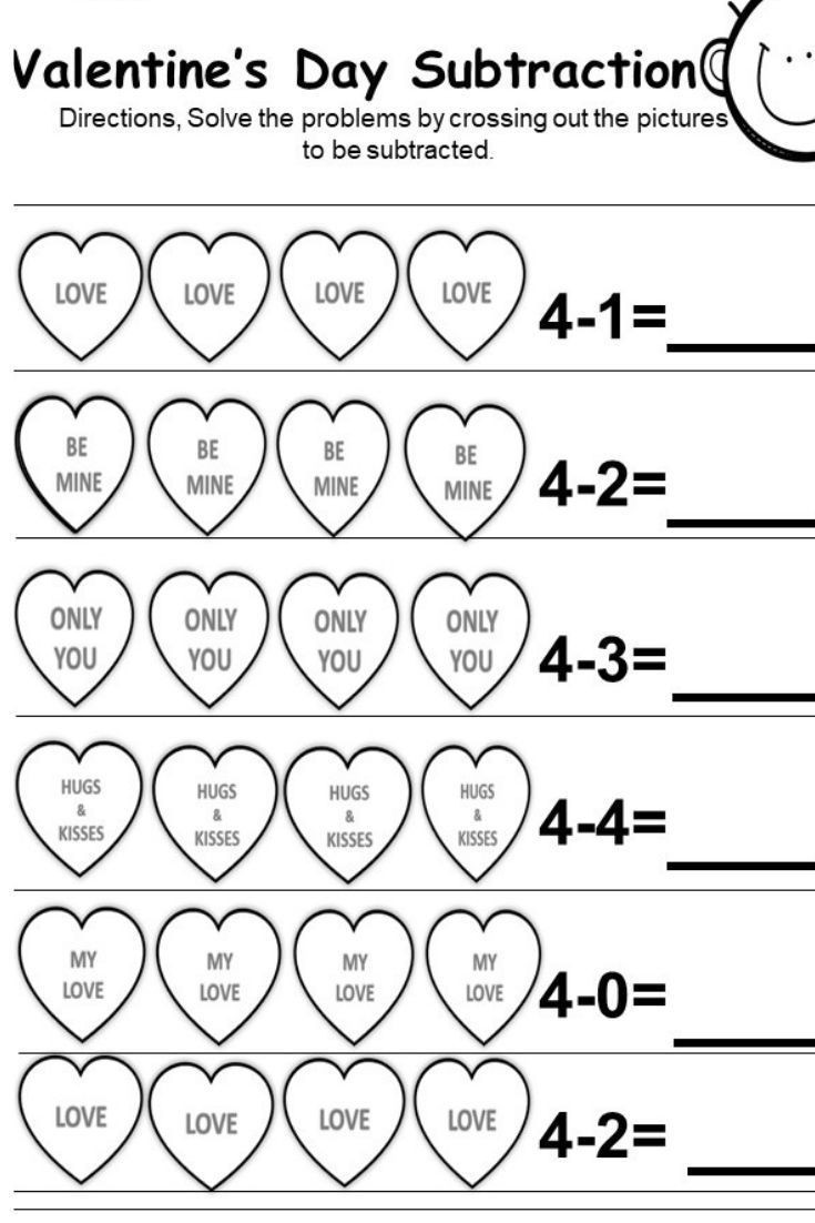 Valentines Day Worksheets for Kindergarten