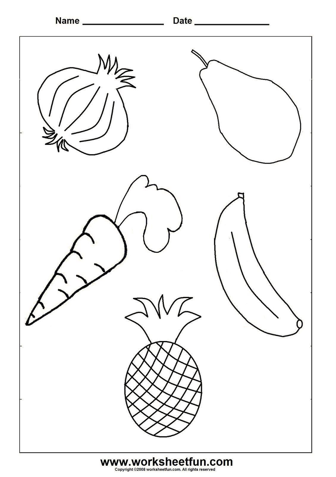 Vegetables Worksheet for Kindergarten
