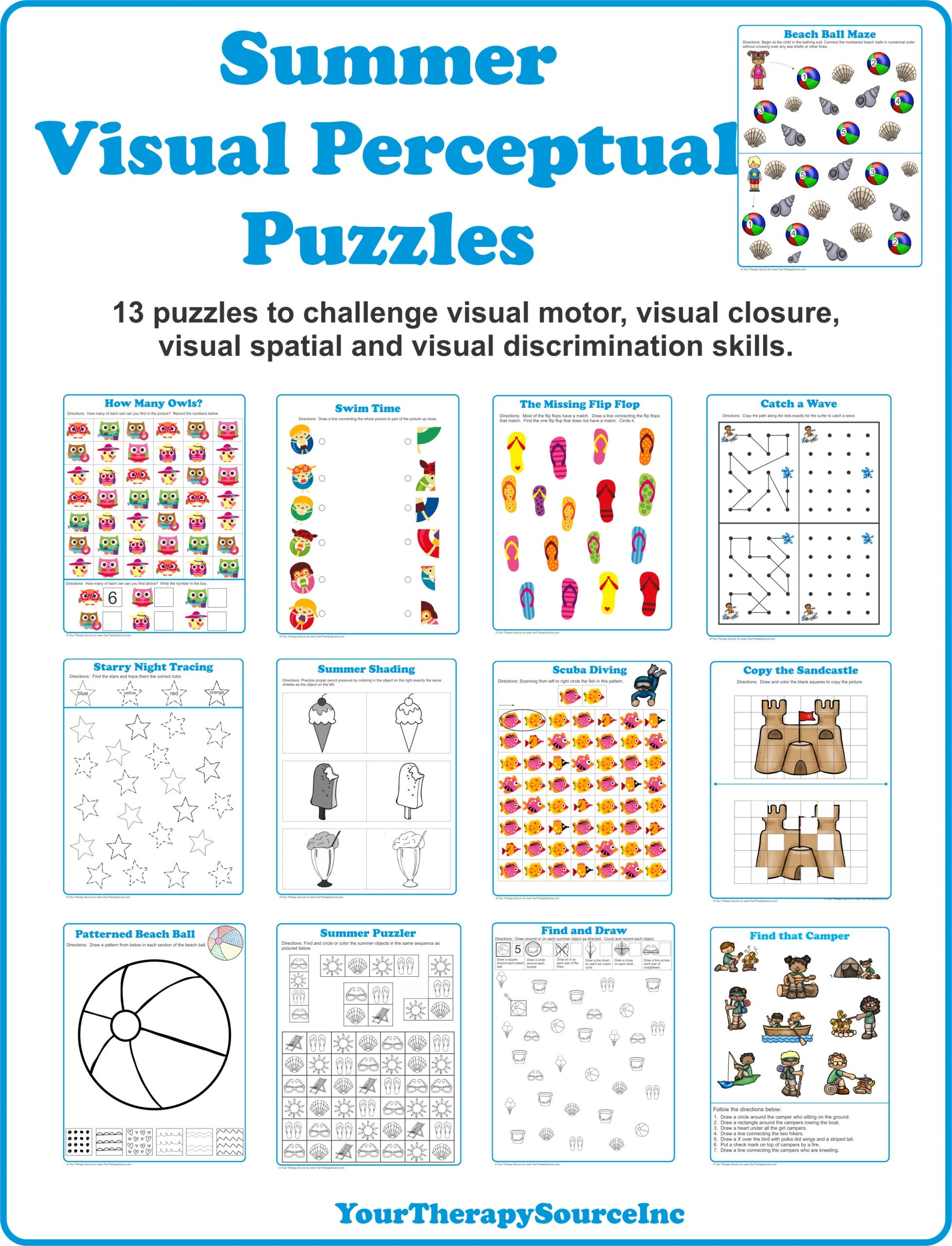 Visual Perceptual Worksheets Free Printables