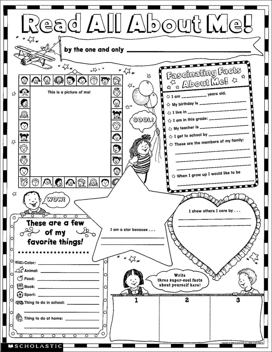 About Me Worksheet High School