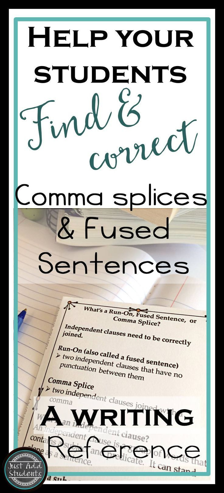 Comma Splice Worksheet High School