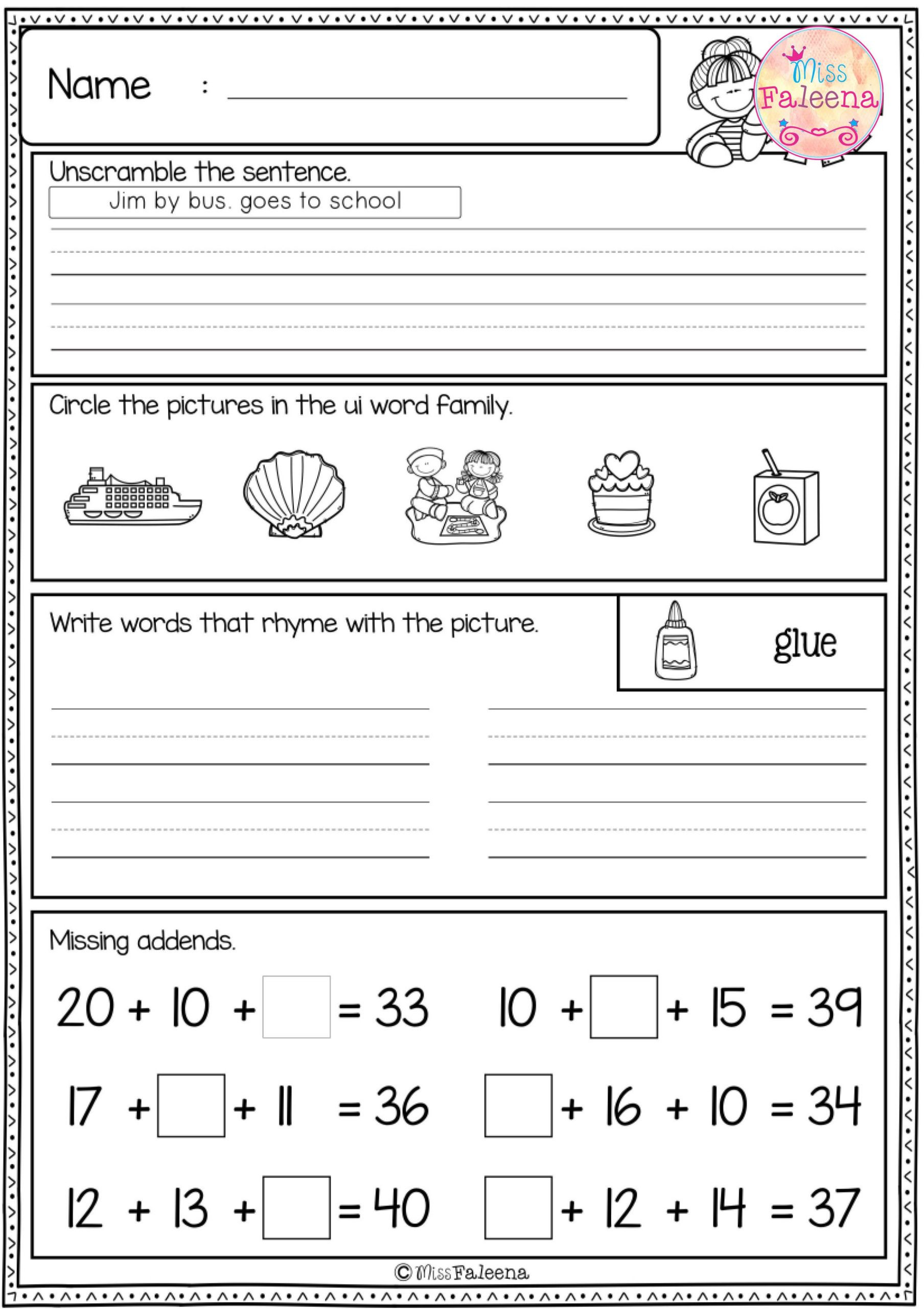 Fill In Missing Letters Worksheets