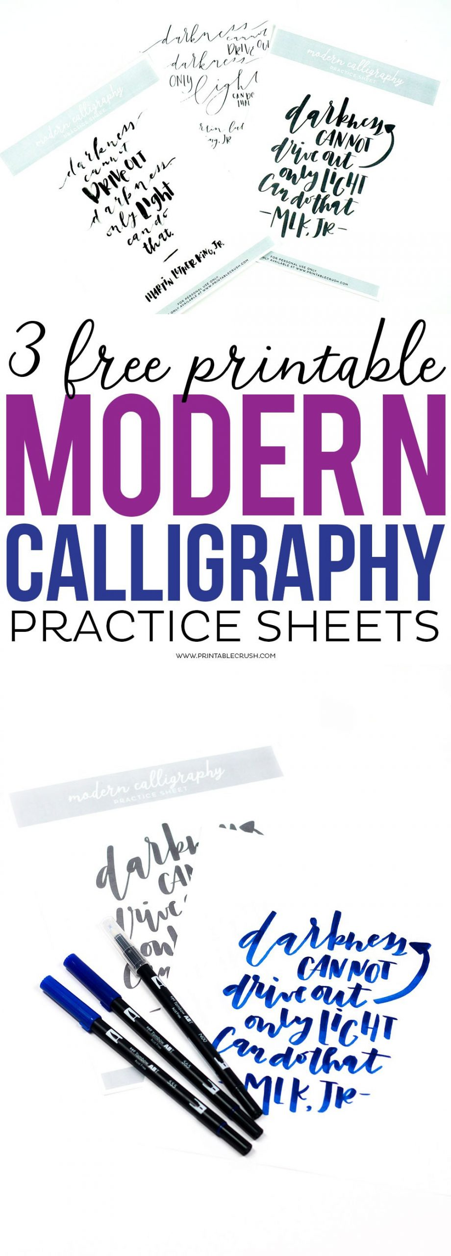 Free Calligraphy Worksheets Printable