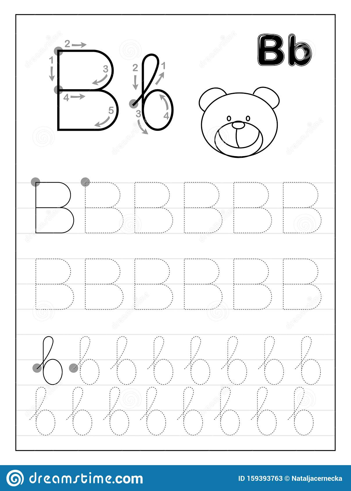 Free Letter B Worksheets
