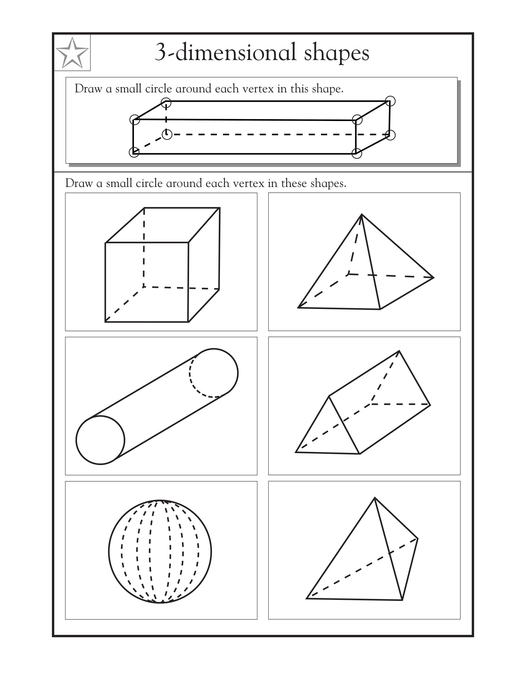 Free Printable 3d Shapes Worksheets