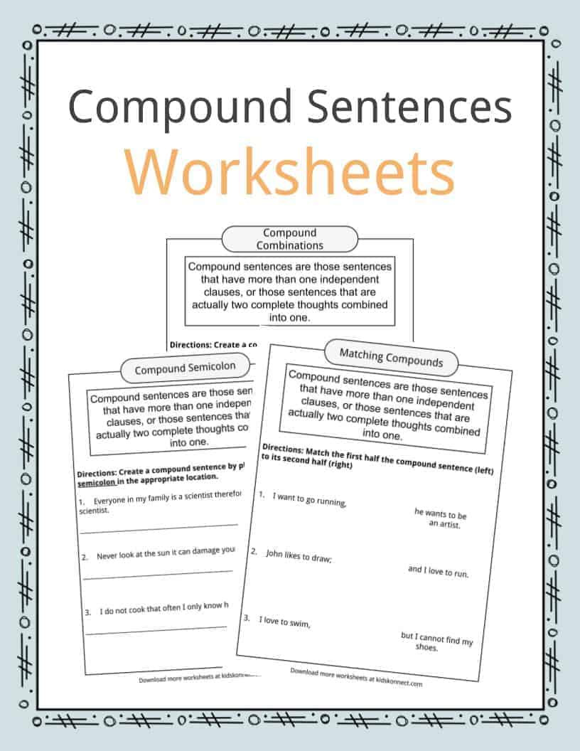 Free Printable Compound Word Worksheets