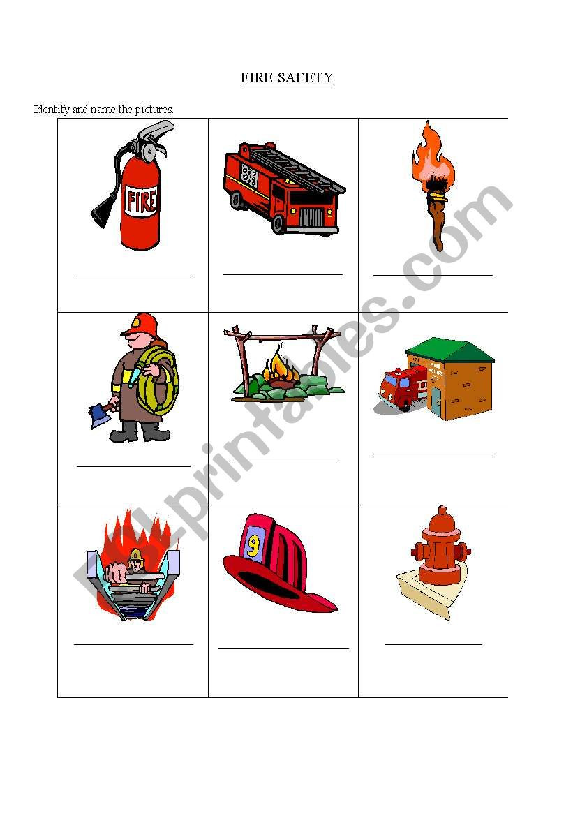 Free Printable Fire Safety Worksheets