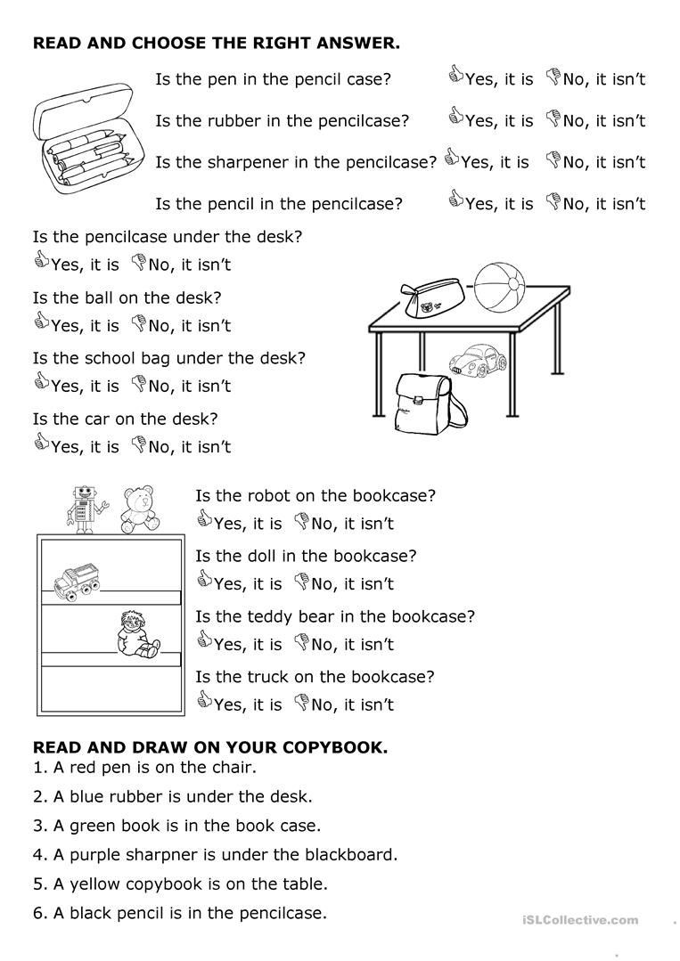 Free Printable Preposition Worksheets