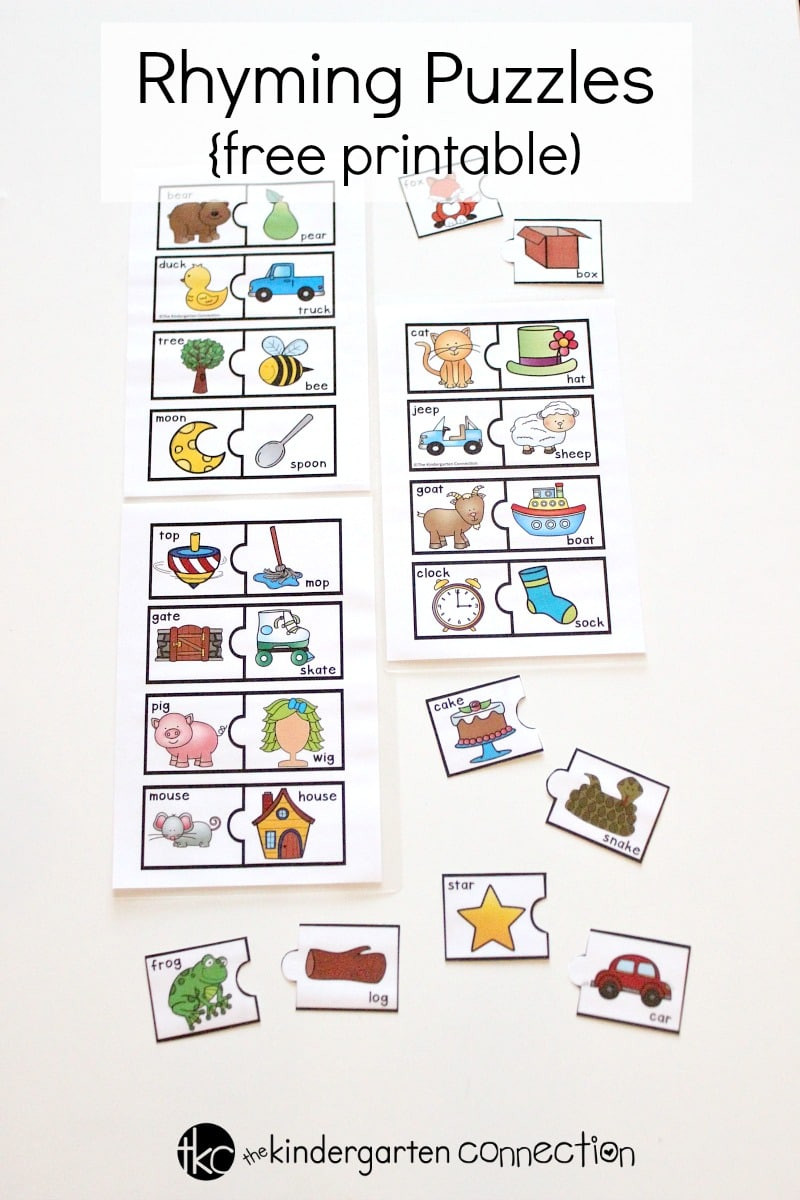 Free Printable Rhyming Worksheets