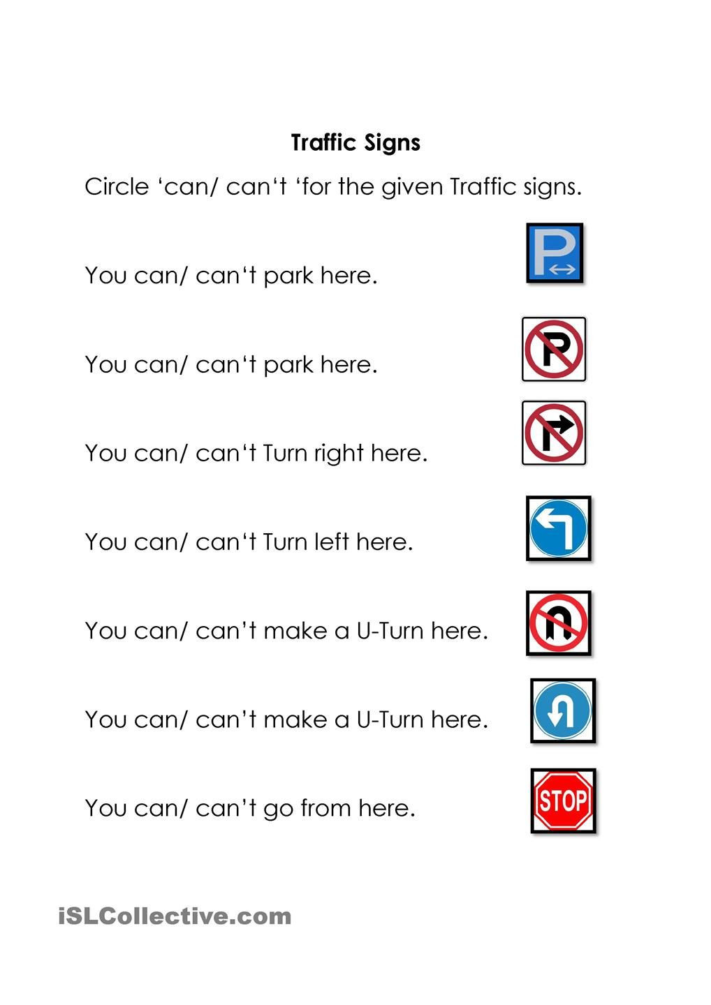 Free Printable Safety Signs Worksheets