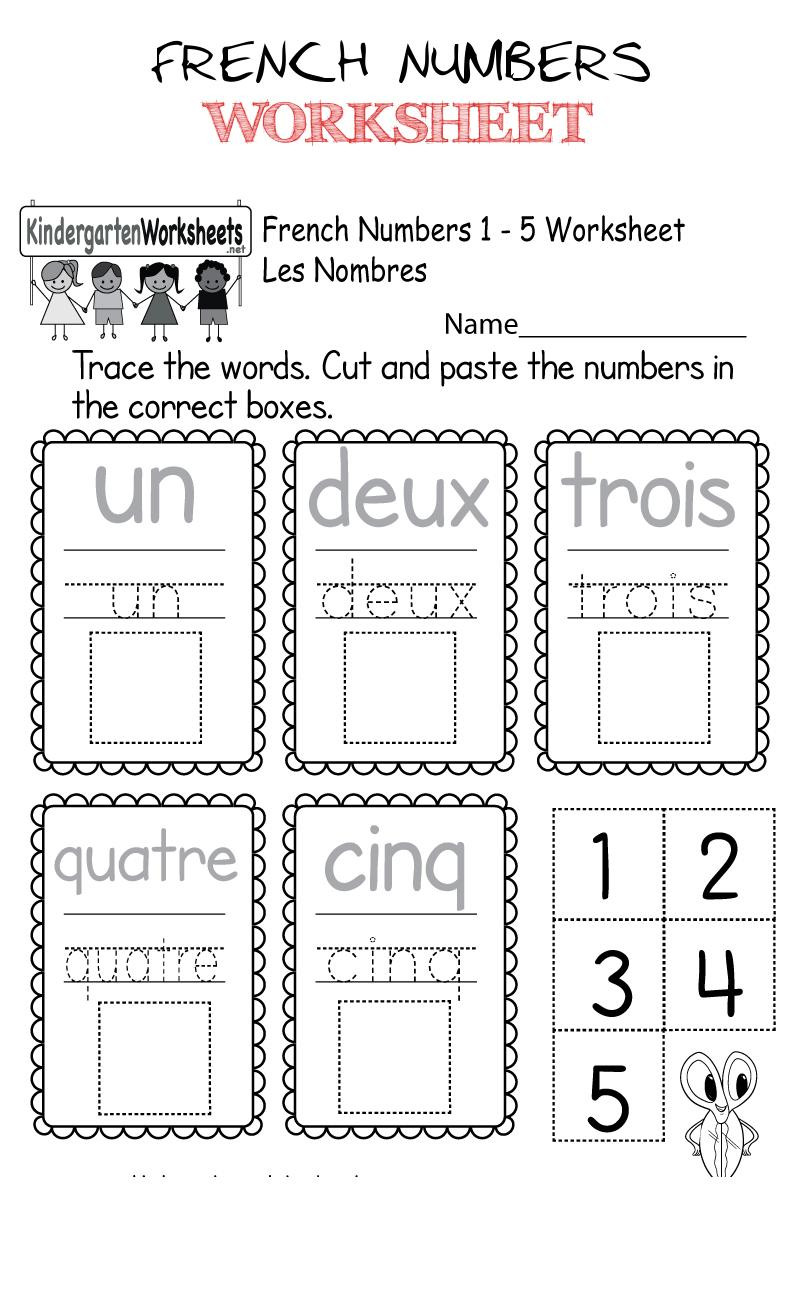 French Printable Worksheets