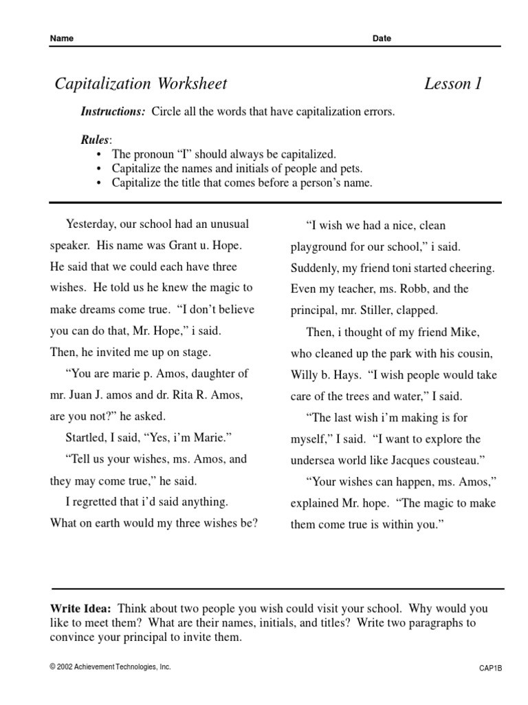 High School Punctuation Worksheets