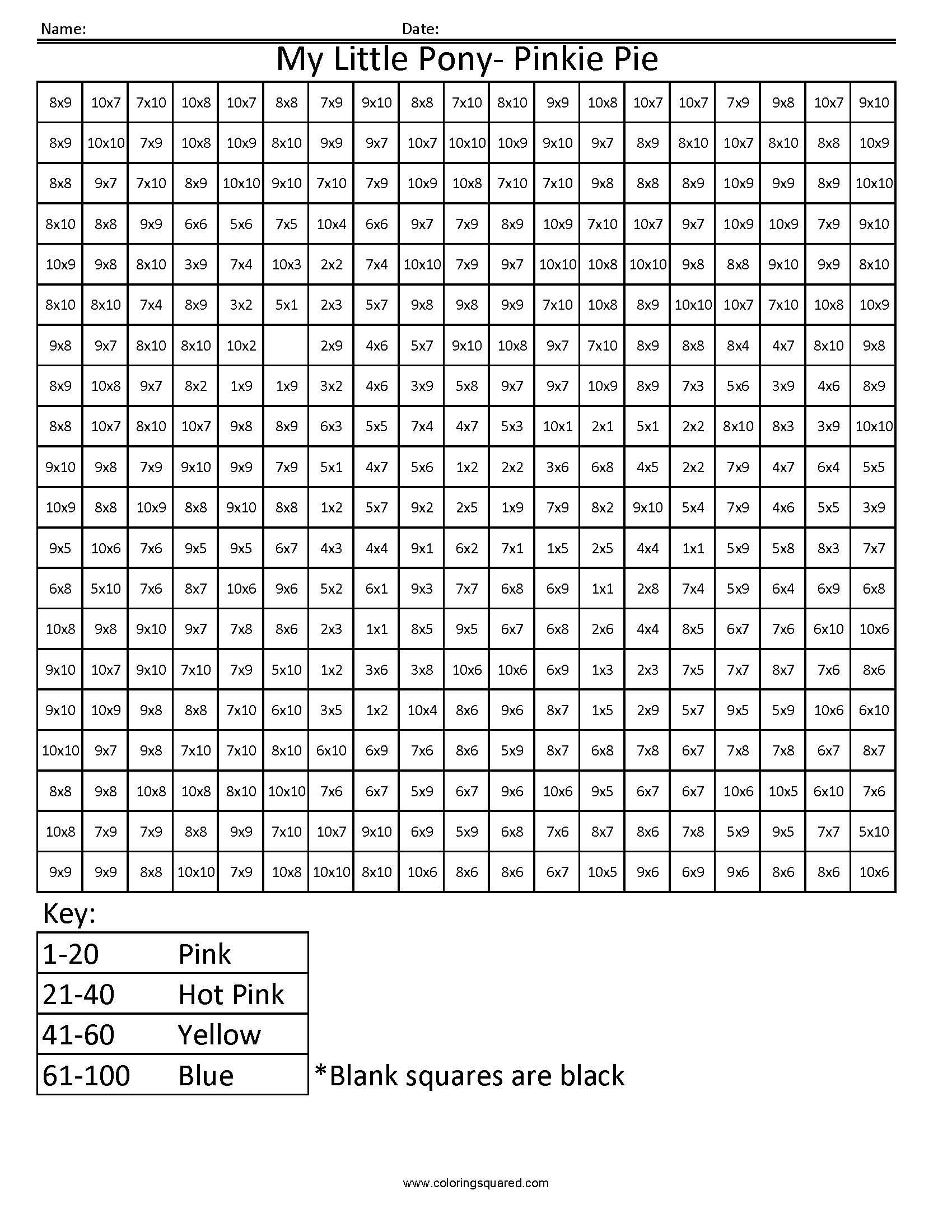 Holiday Color by Number Worksheets
