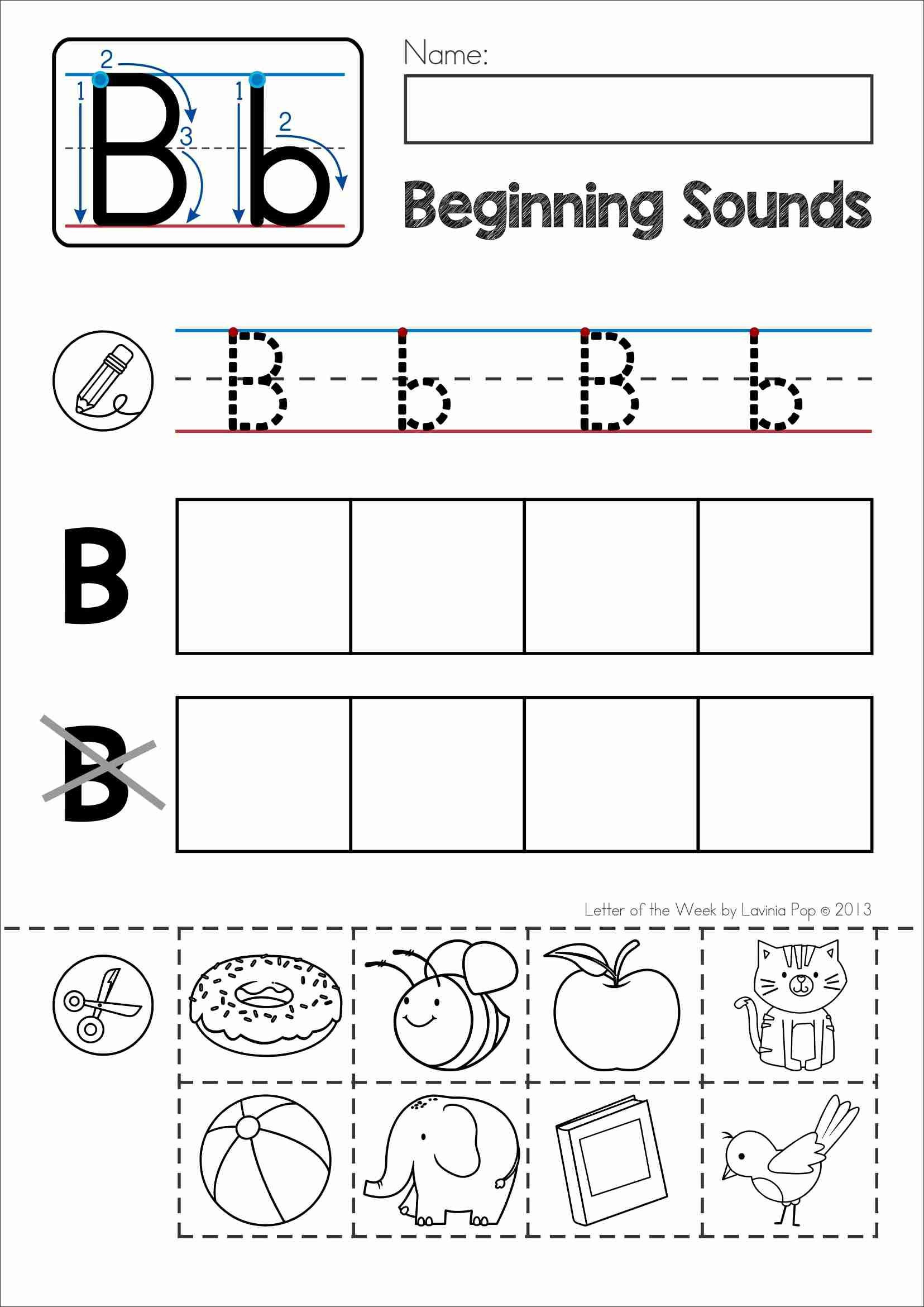 FREE Back to School Alphabet Phonics Letter of the Week B
