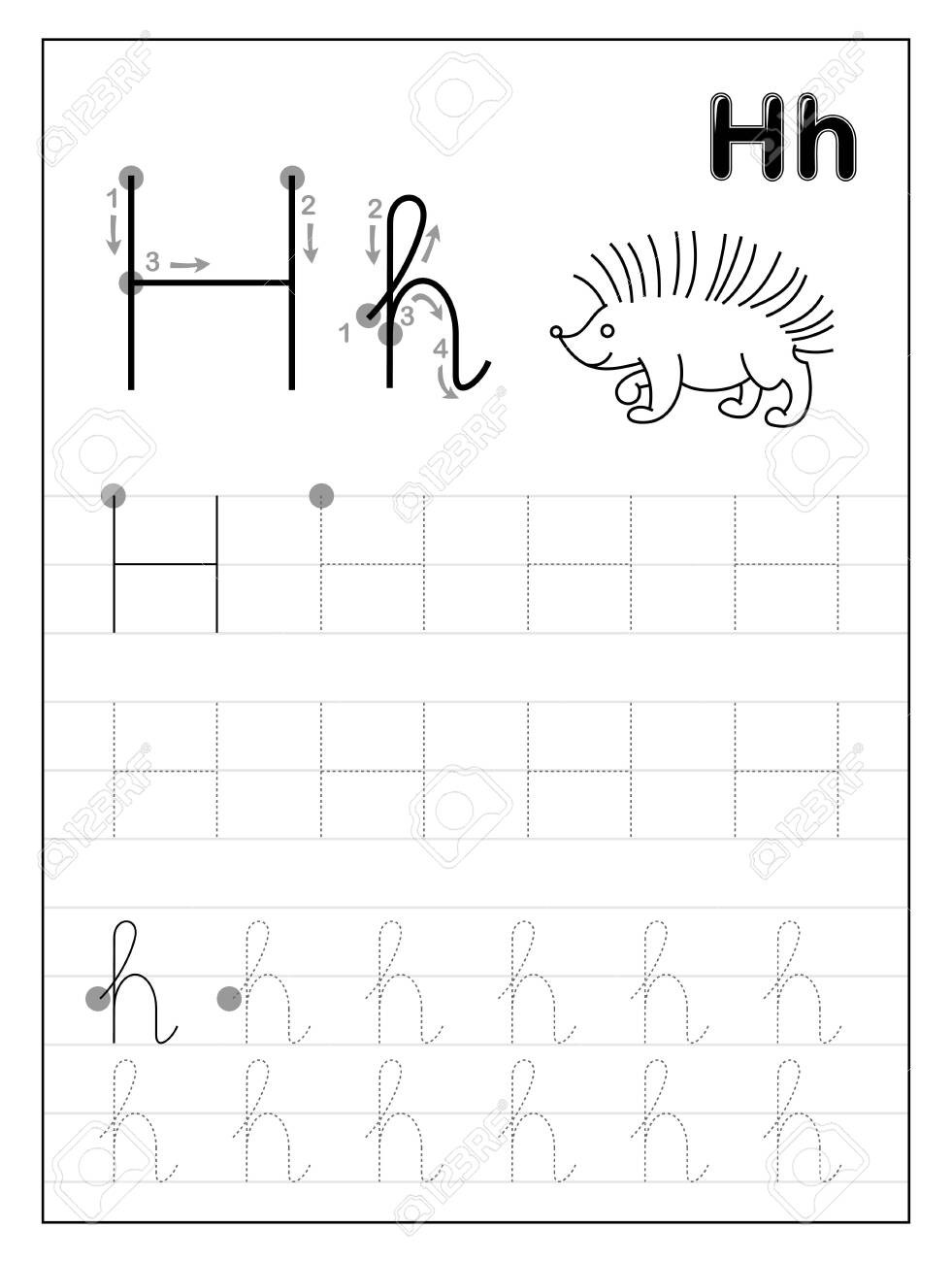 Letter H Tracing Worksheets