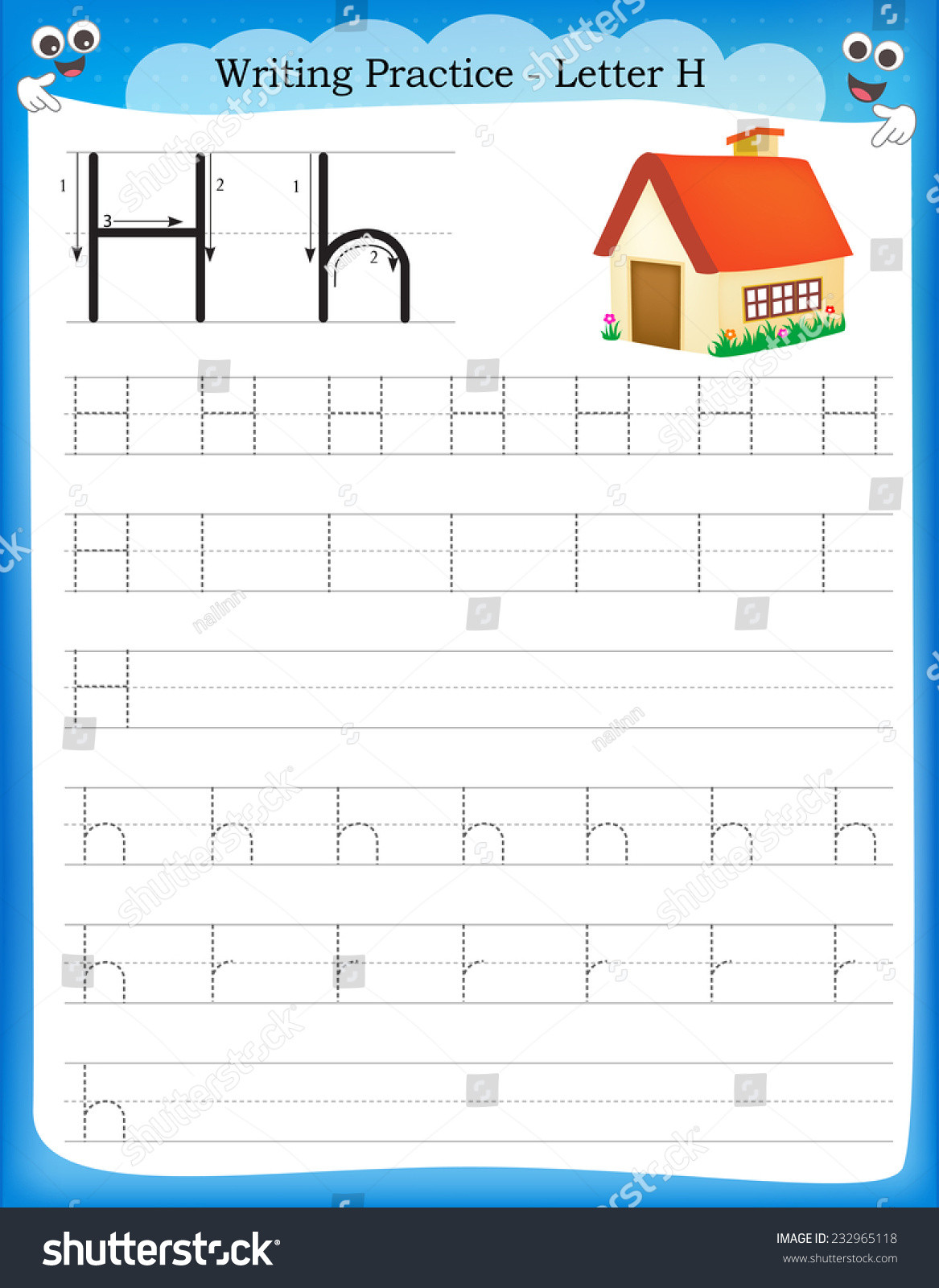 Letter H Worksheets for Preschool