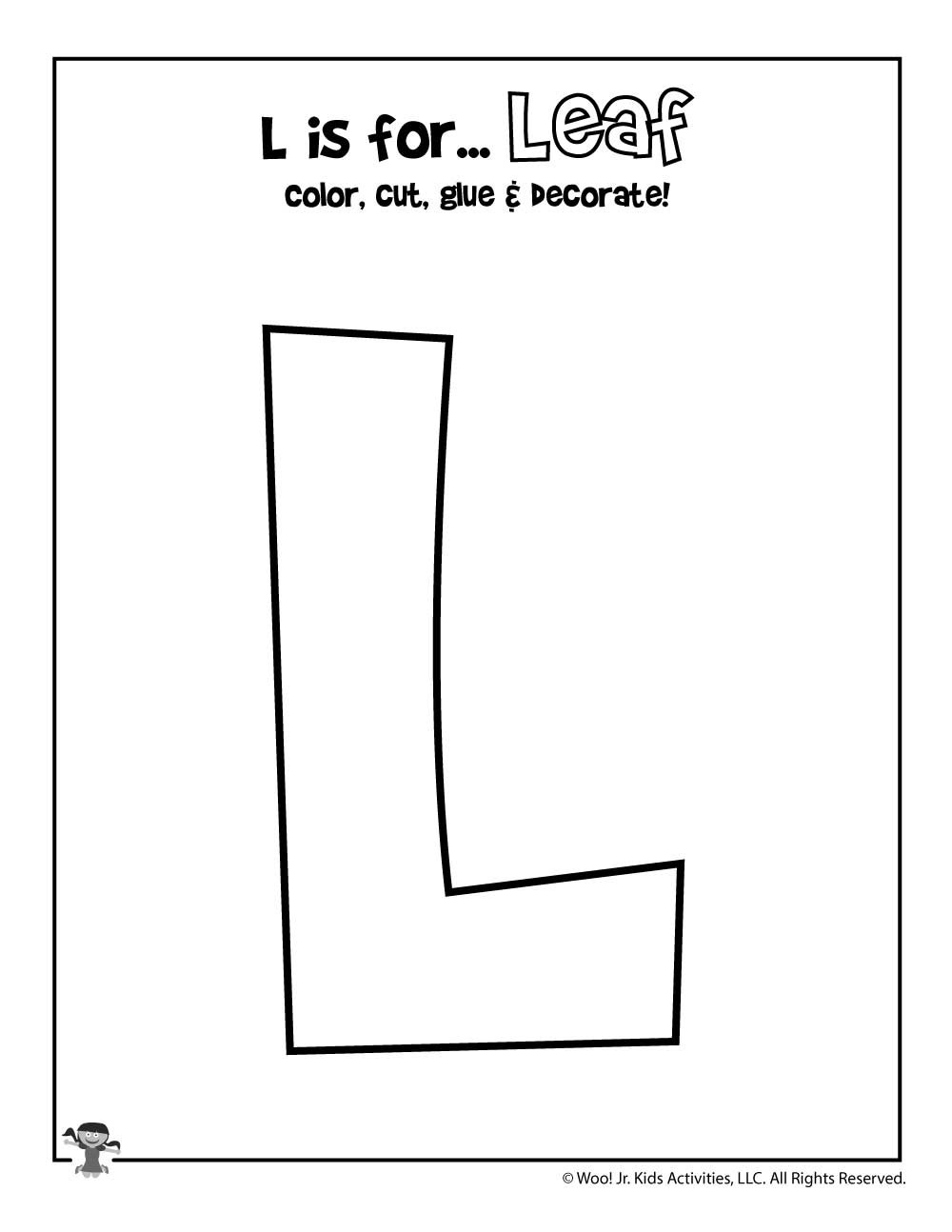 Letter L Preschool Worksheets