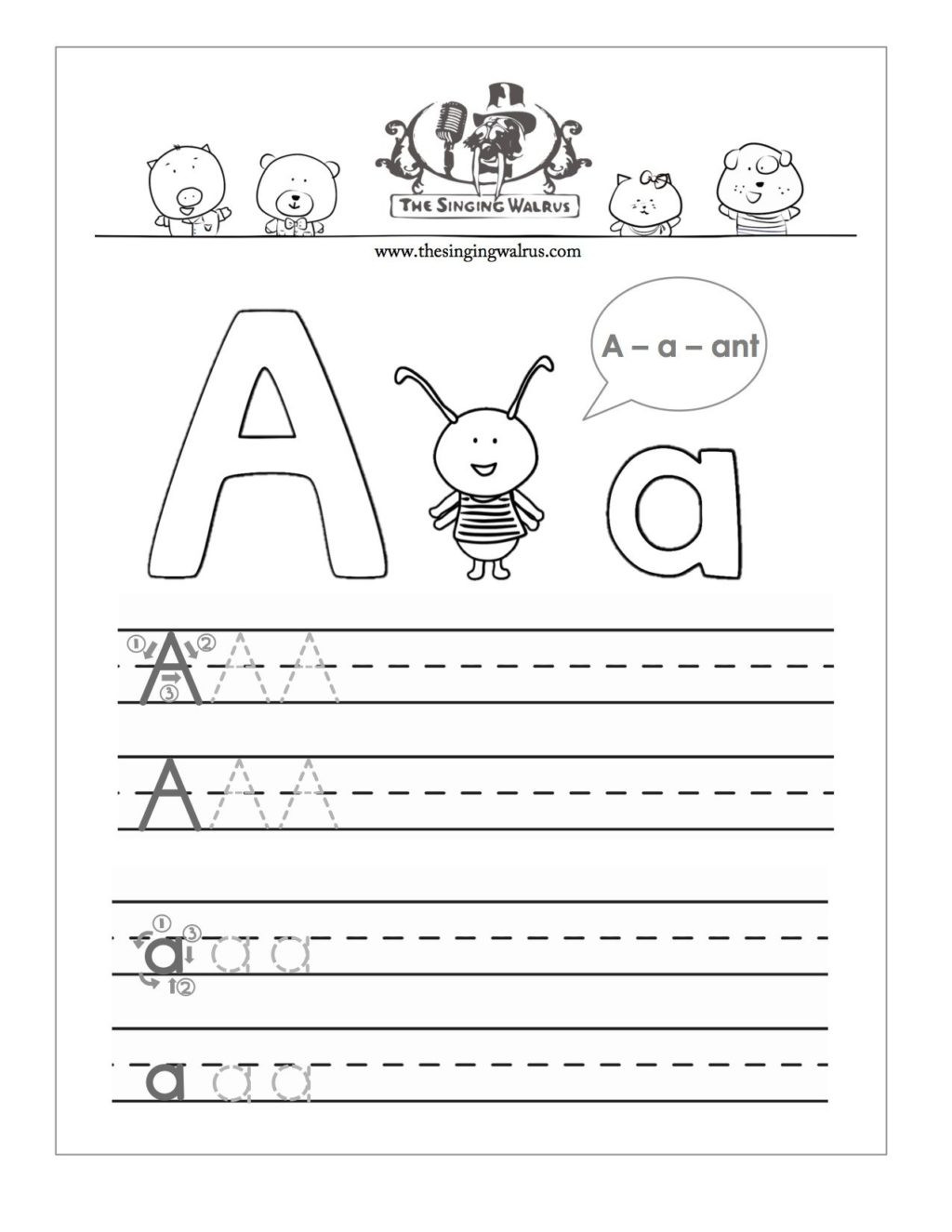 Letter M Worksheets for toddlers