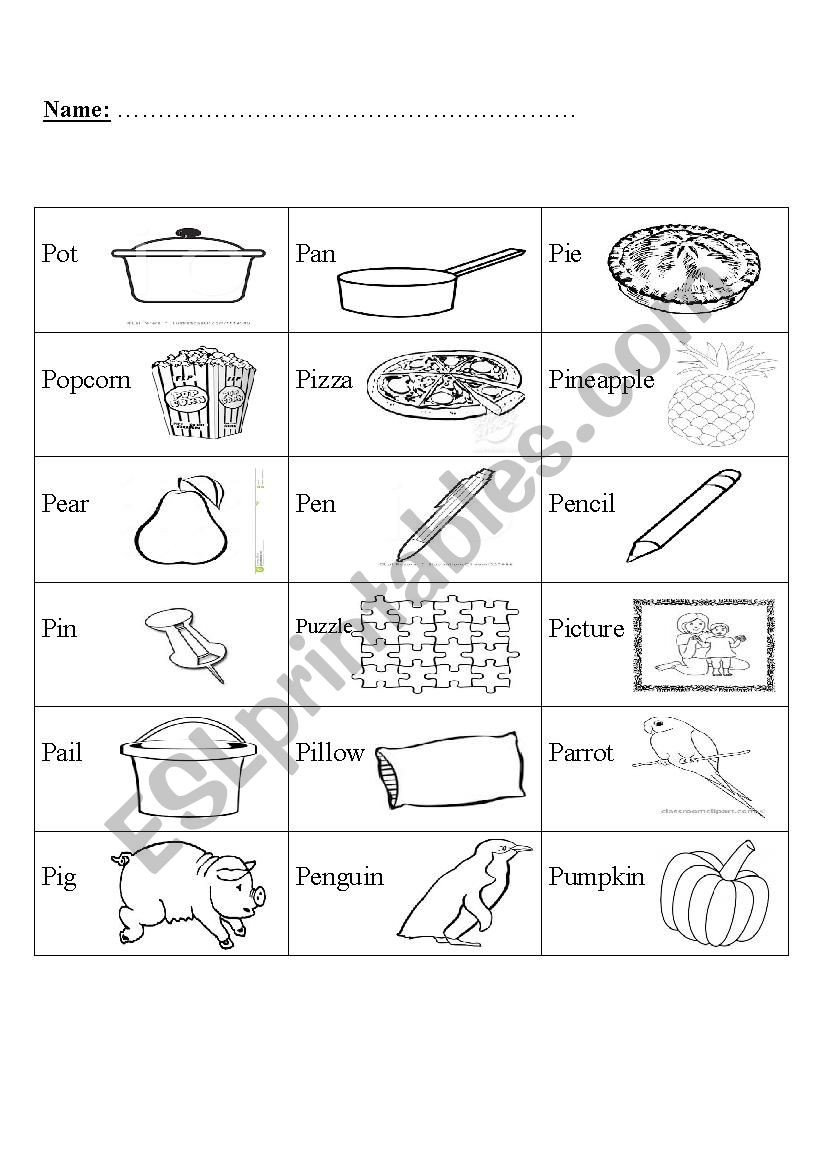 Letter Pp Worksheets
