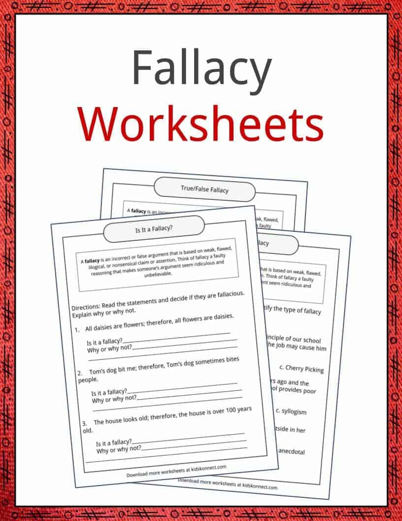 Fallacy Examples Definition and Worksheets