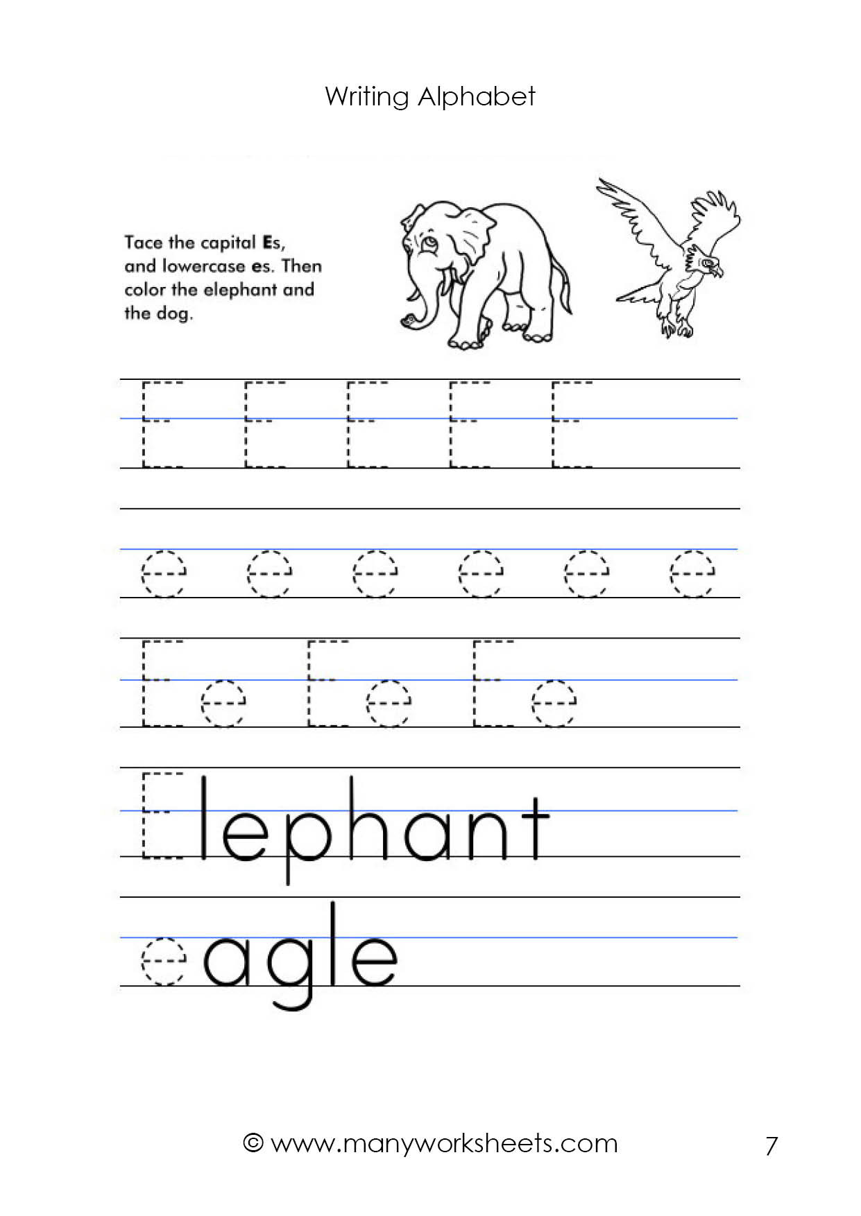 Lowercase Letter Tracing Worksheets