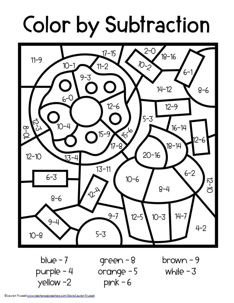 Math Coloring Worksheets High School