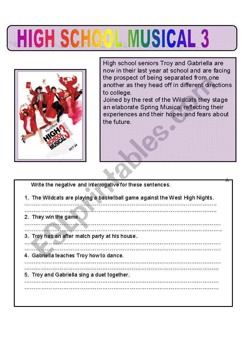Music Worksheets for High School