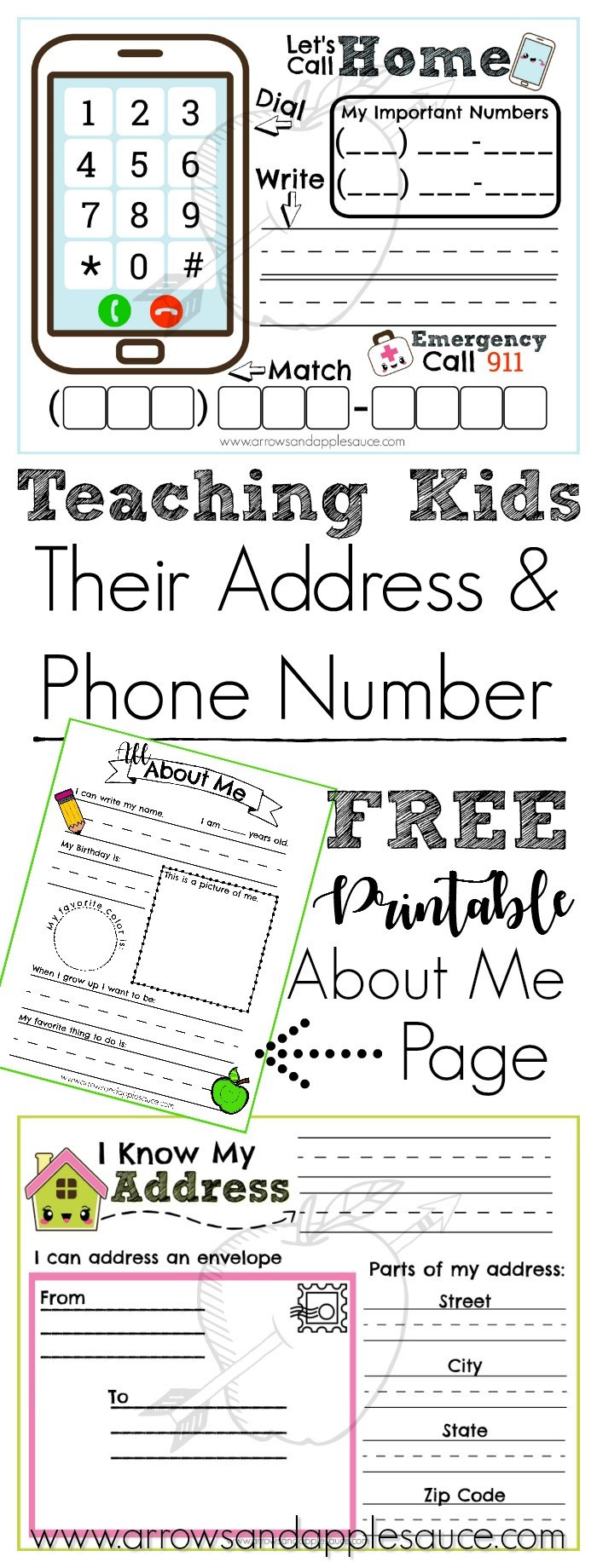 Address and Phone Number Activities