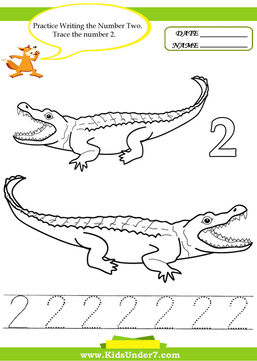 Number 2 Worksheets for Preschool