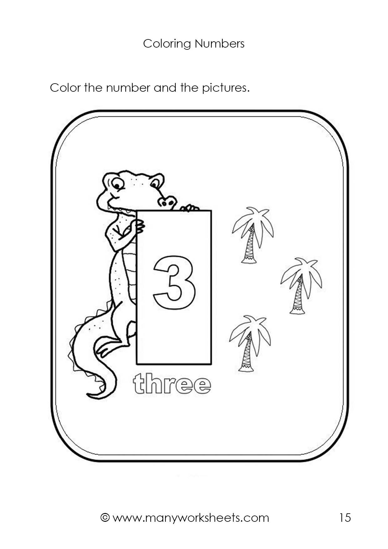 Number 3 Worksheet Preschool