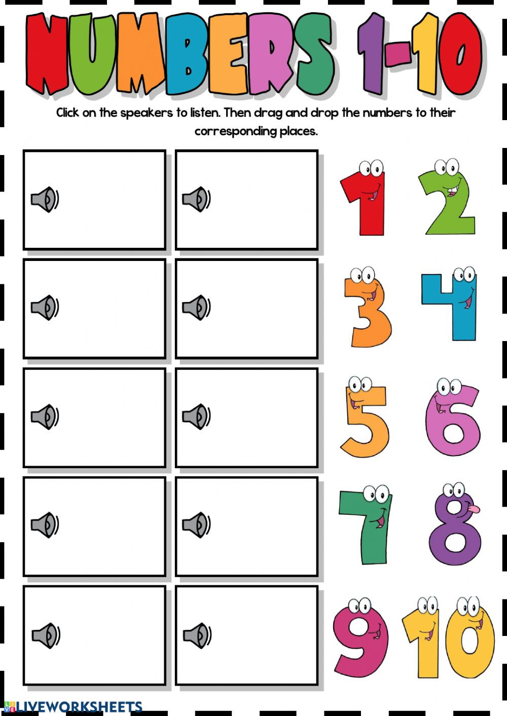 Numbers 1 10 Worksheet