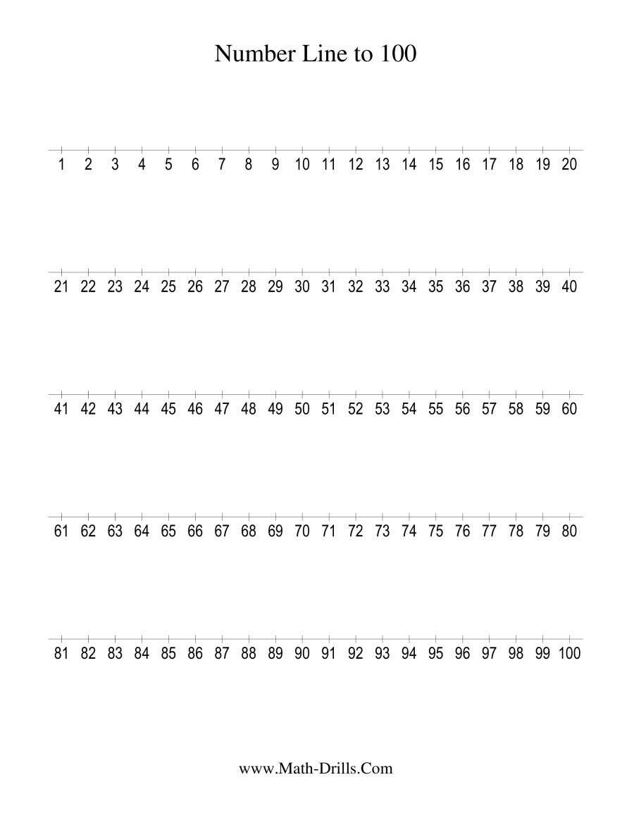 Numbers 1 100 Worksheet