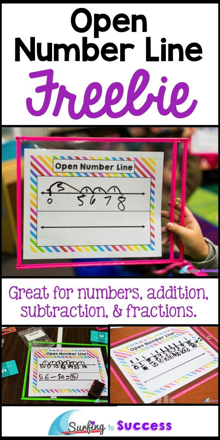 Open Number Line Worksheets