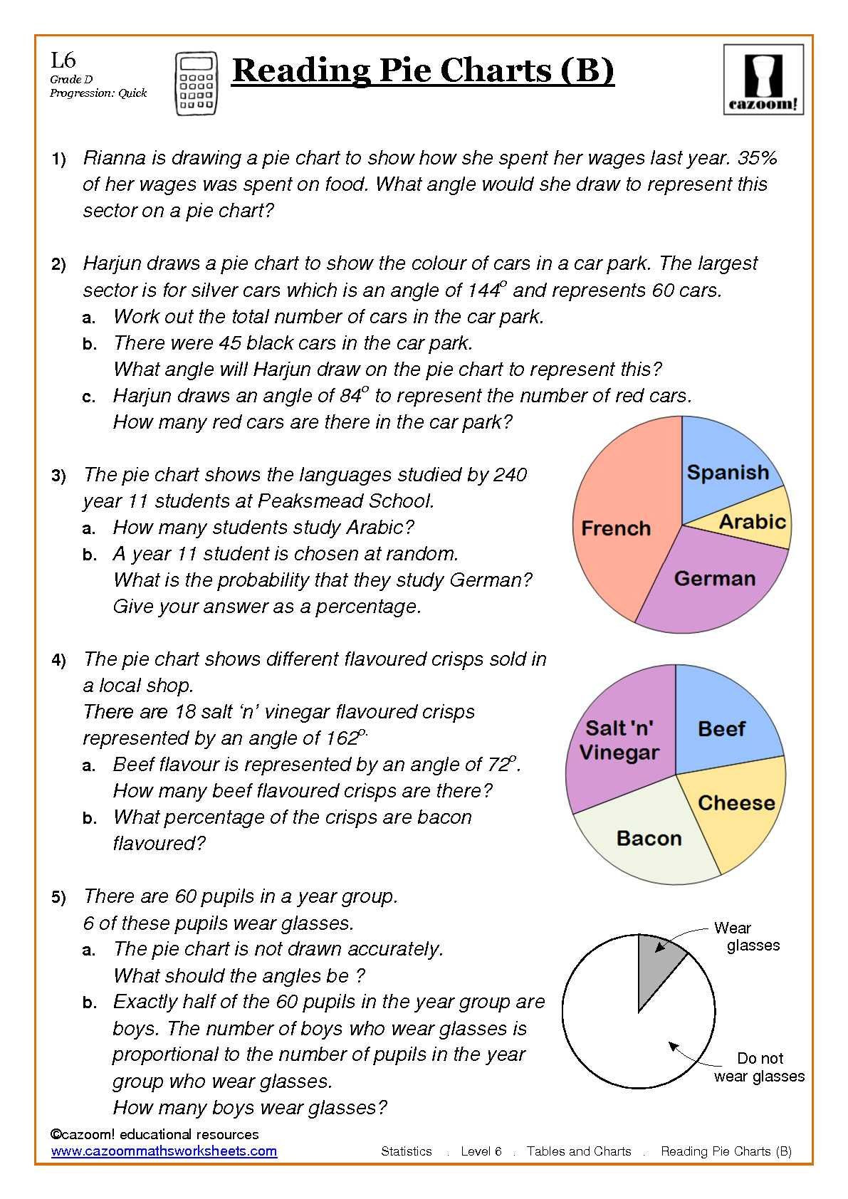 Pie Graph Worksheets High School