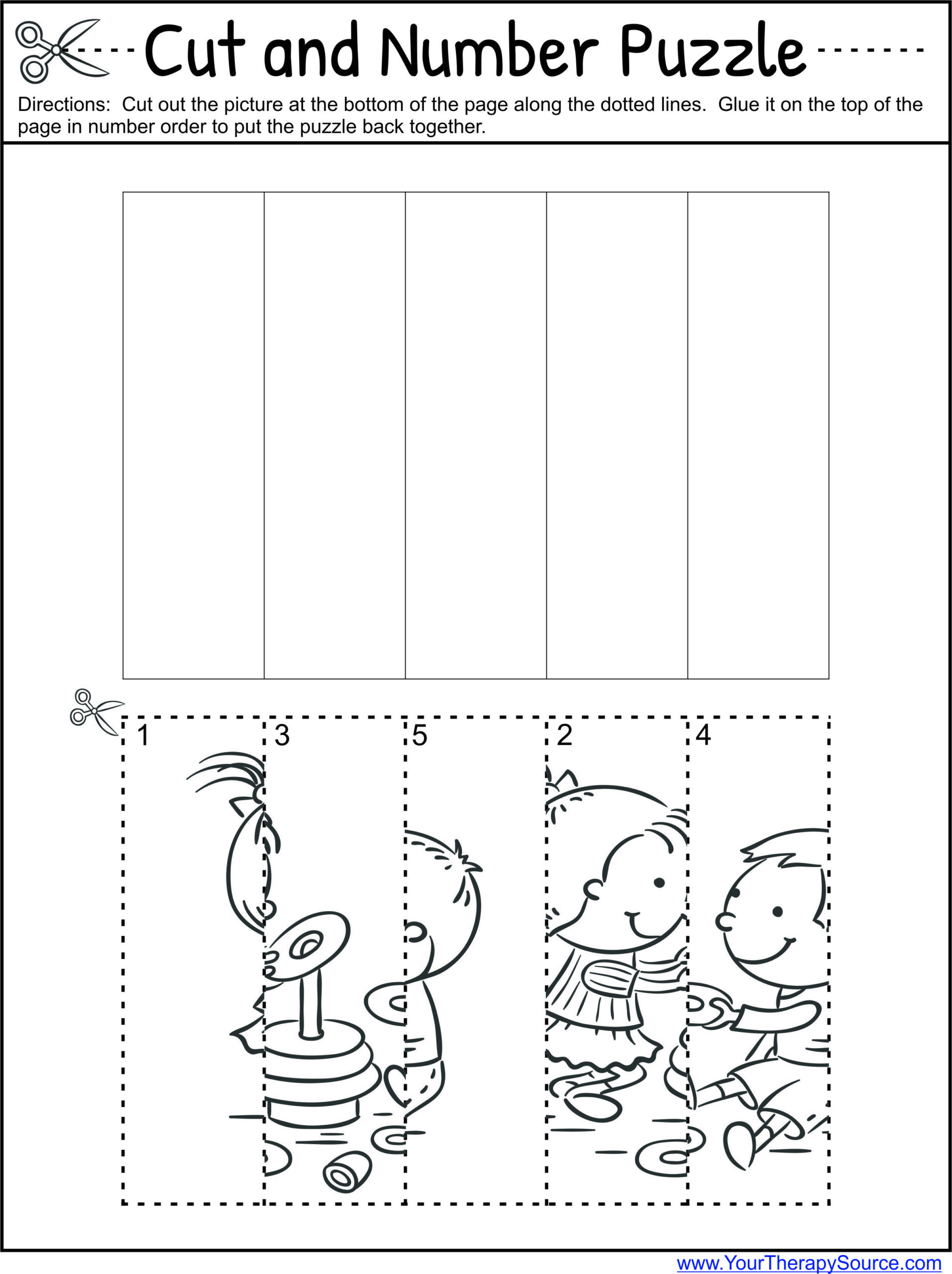 Printable Cutting Worksheets for Preschoolers