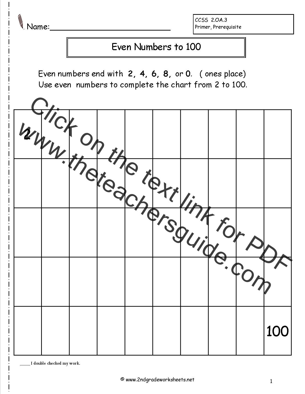Real Numbers Chart Worksheet