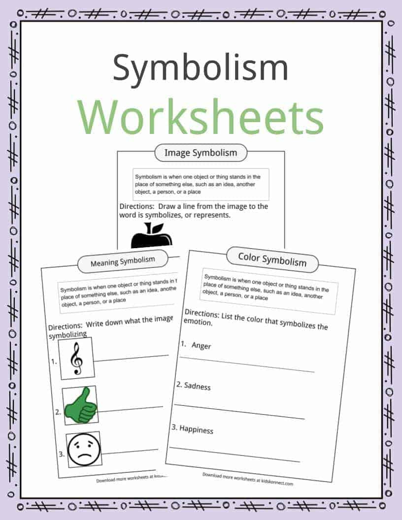 Symbolism Examples Definition & Worksheets For Kids