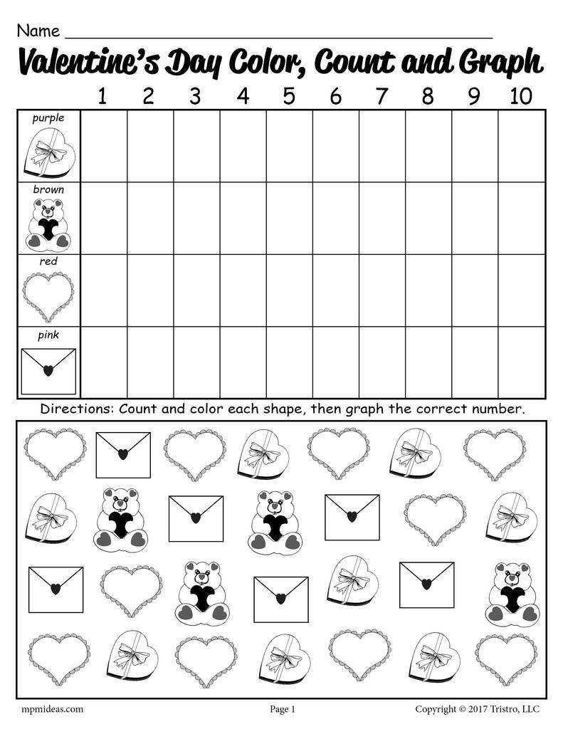 Valentines Day Printable Worksheets