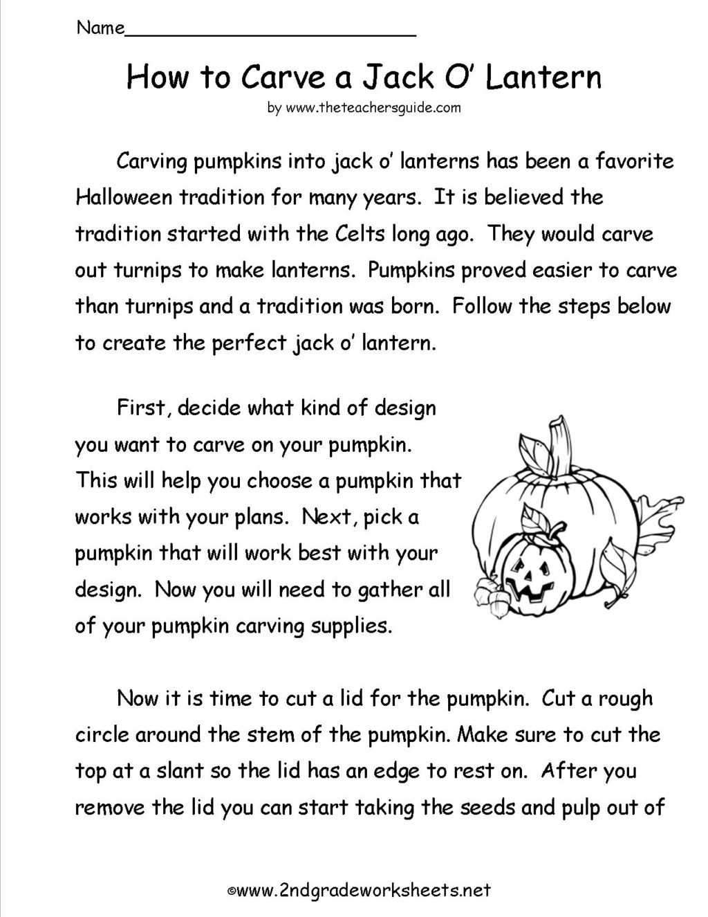 Free Printable Halloween Worksheets for 2nd Grade