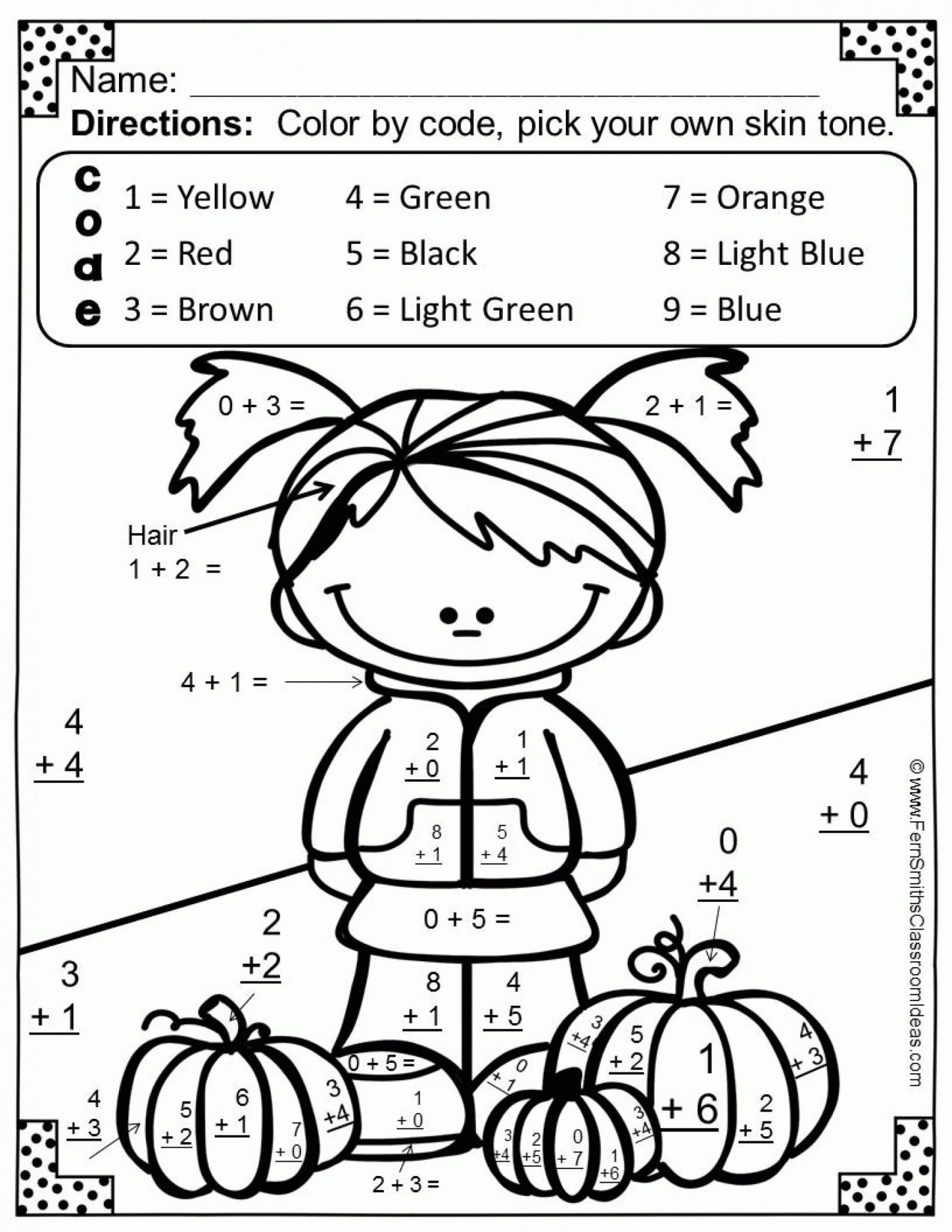 Fun Halloween Worksheets for 2nd Grade