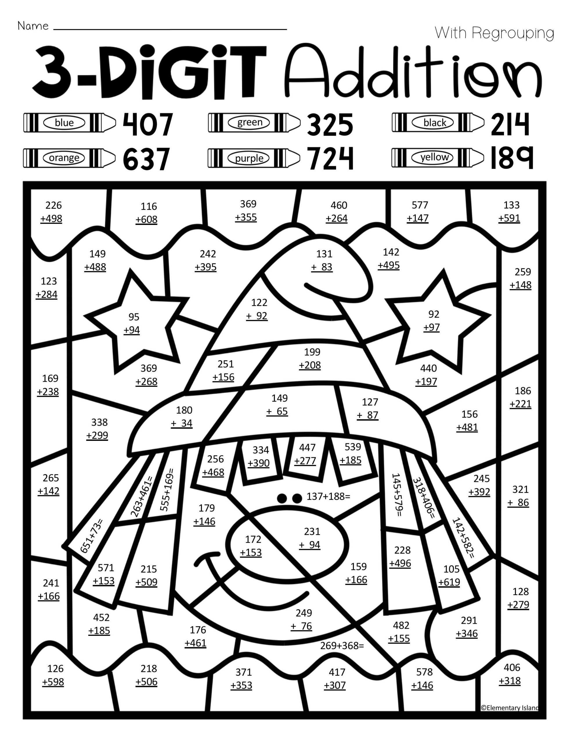 Halloween Addition Math Worksheets for First Grade