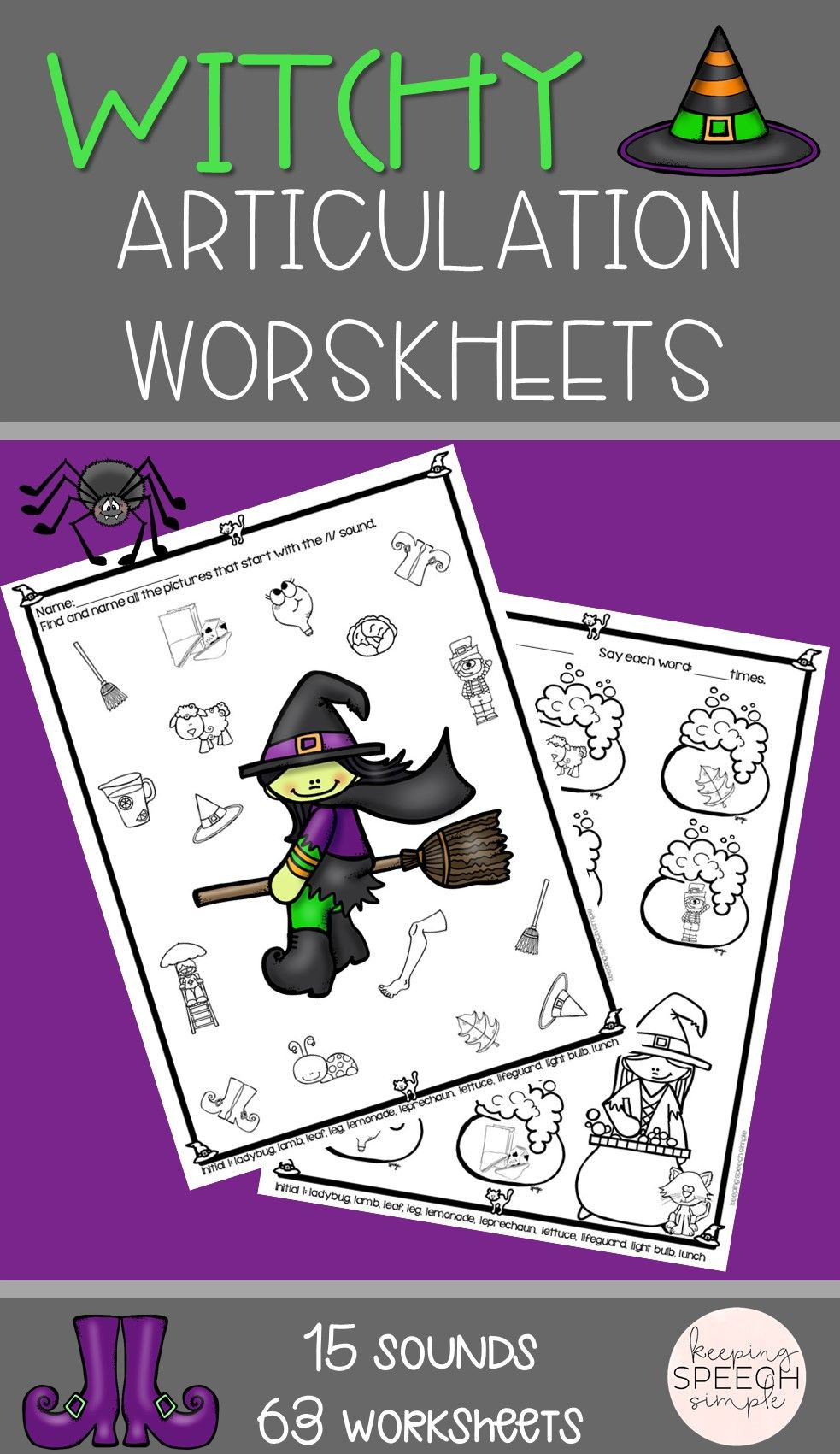 These fun Halloween themed worksheets are perfect for