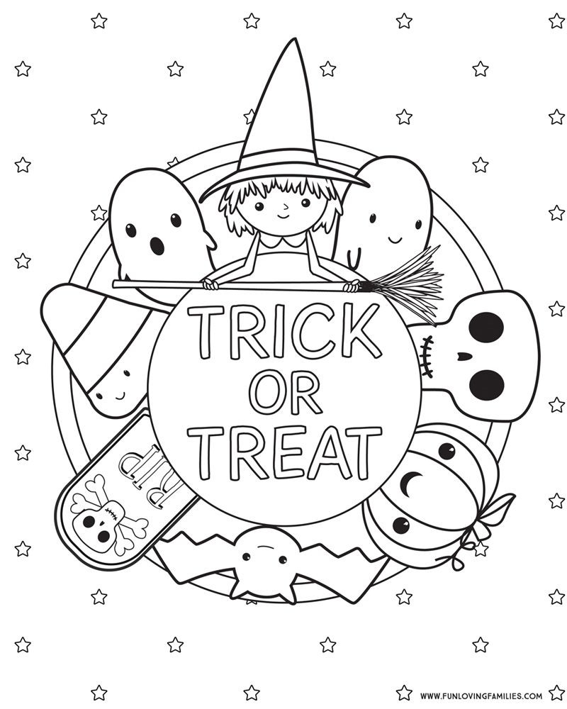 Halloween Coloring Pages Free Printables Fun Loving