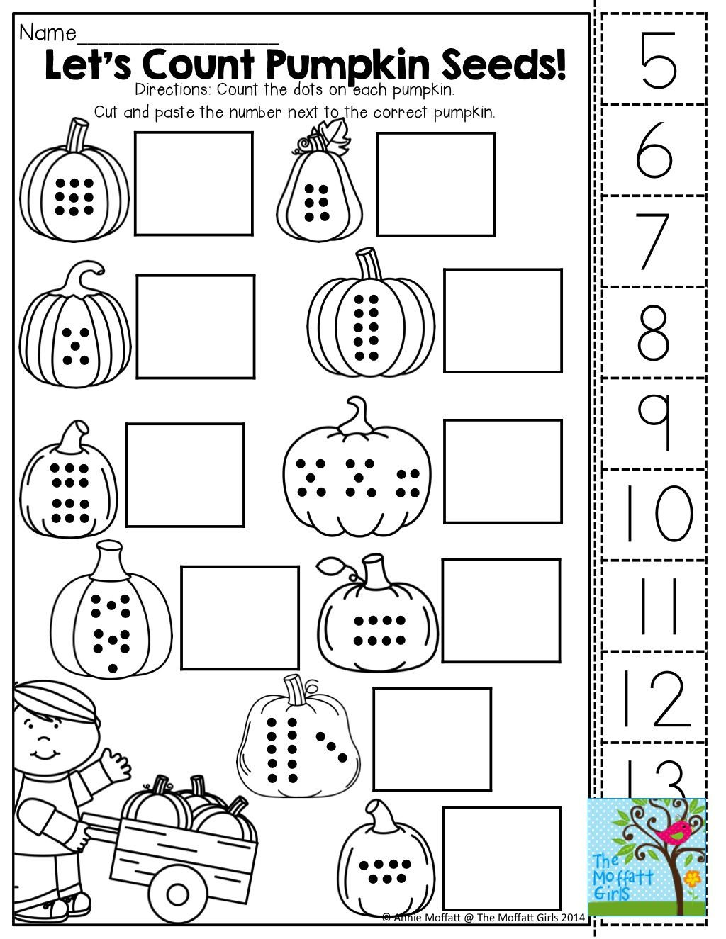 Halloween Cut and Paste Worksheets Pdf