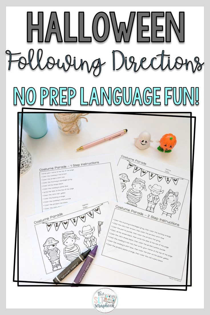 Halloween Following Directions Worksheets Free