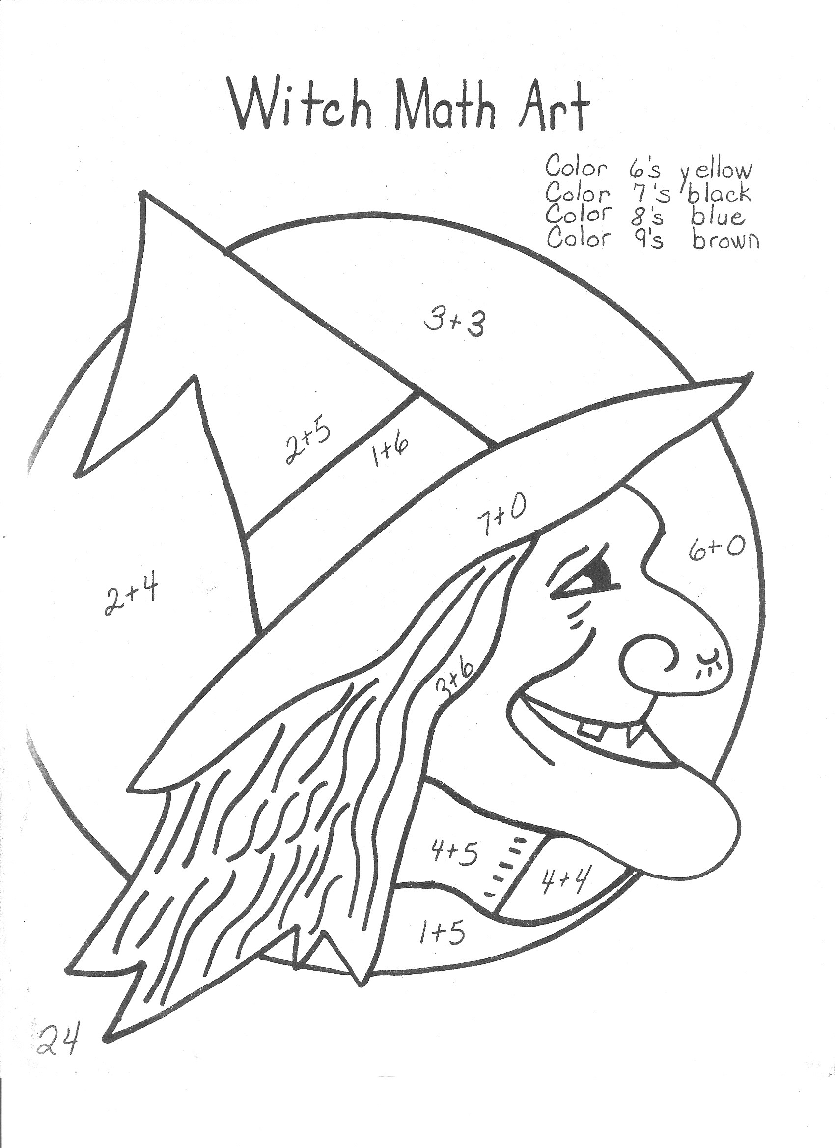 Halloween Math Worksheets for 4th Grade