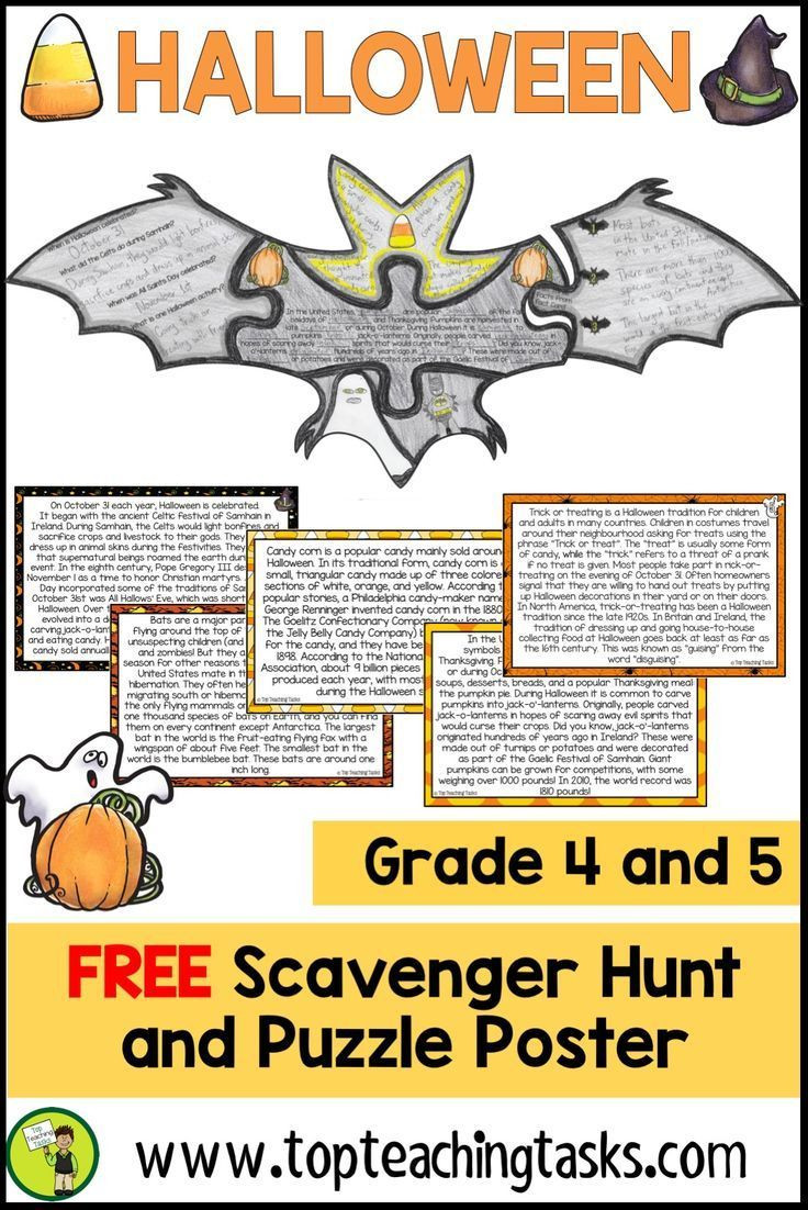 Halloween Reading Comprehension Worksheets for 4th Grade