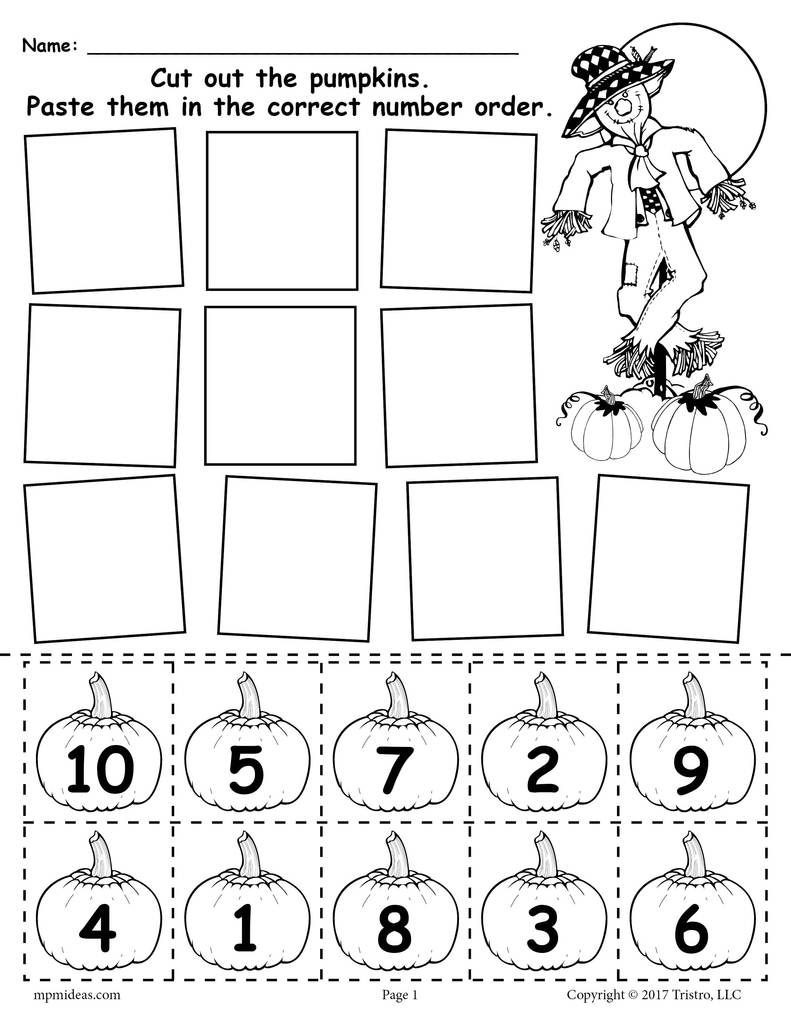 Halloween Rhyming Worksheets for Kindergarten
