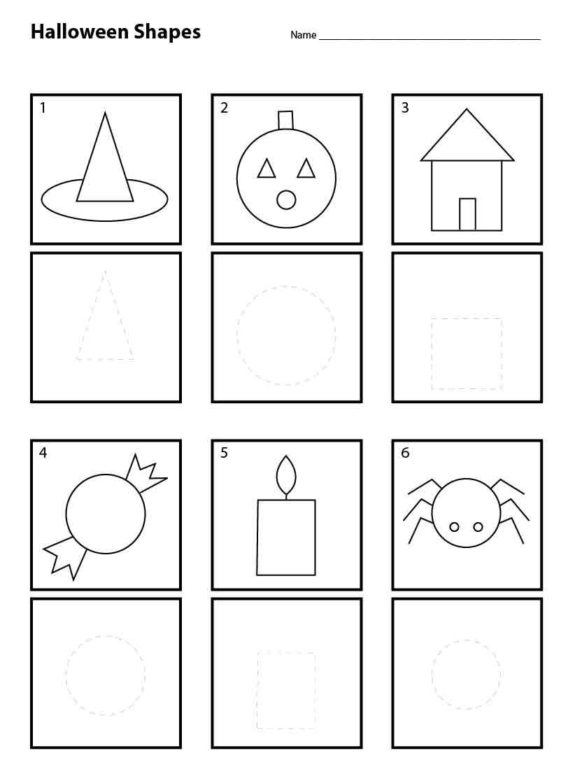 Halloween Shapes for Pre K Art Projects for Kids